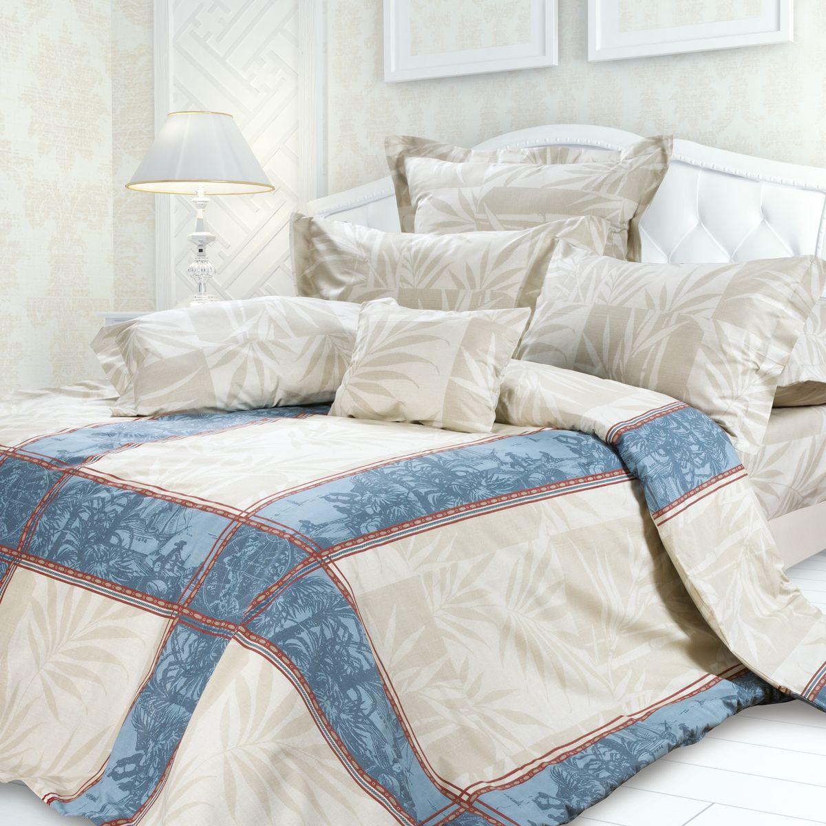 Комплект белья Унисон Кортес, евро, наволочки 50 x 70, цвет: серый. 239618239618