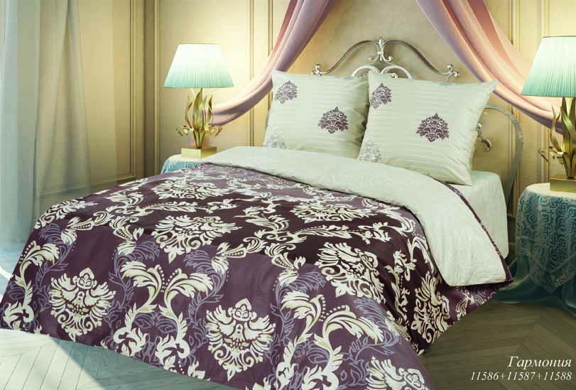 Комплект белья Романтика Славы Зайцева Гармония, 2-х спальное, наволочки 70 x 70, цвет: коричневый. 251240251240
