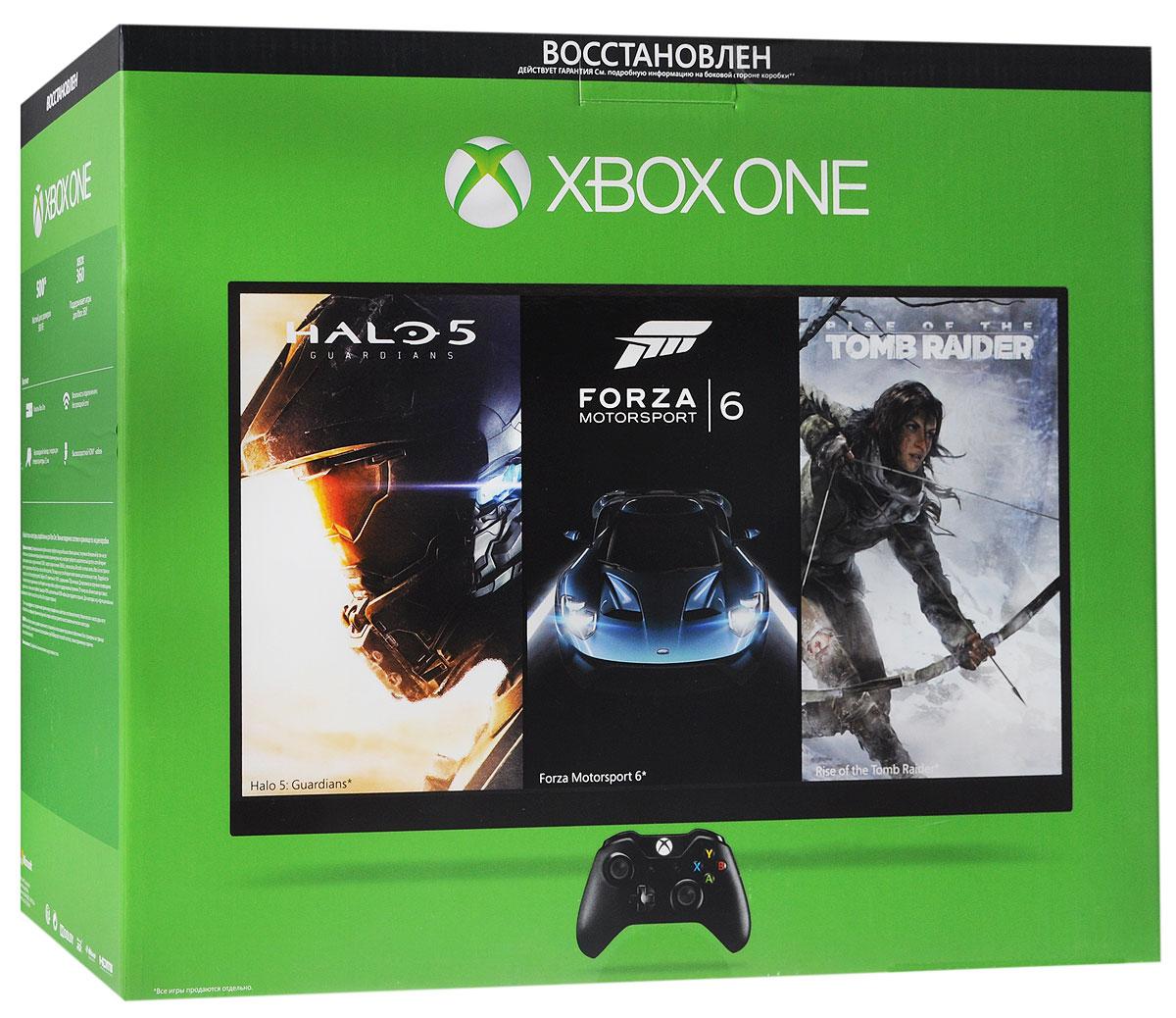 Игровая приставка Xbox One Refurbished 500 ГБ (восстановленная)