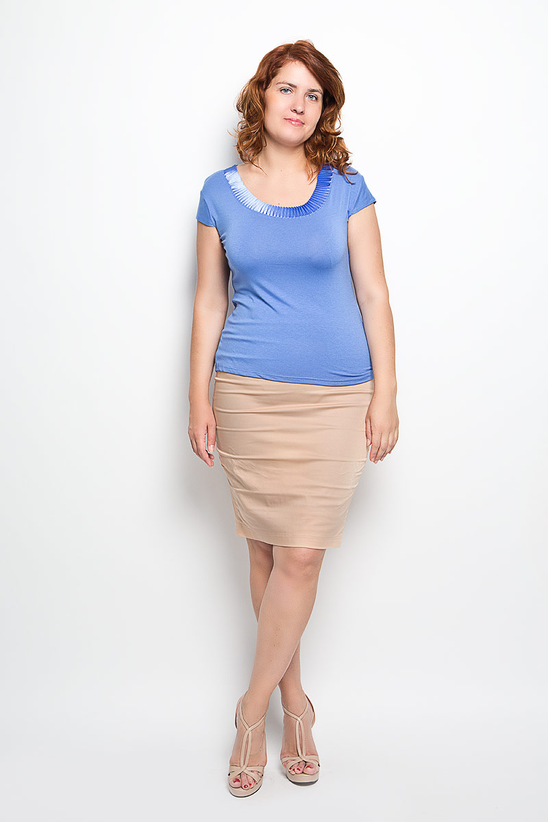 Юбка Milana Style, цвет: бежевый. 30316. Размер 48 платье milana style цвет мятный w280 размер 48