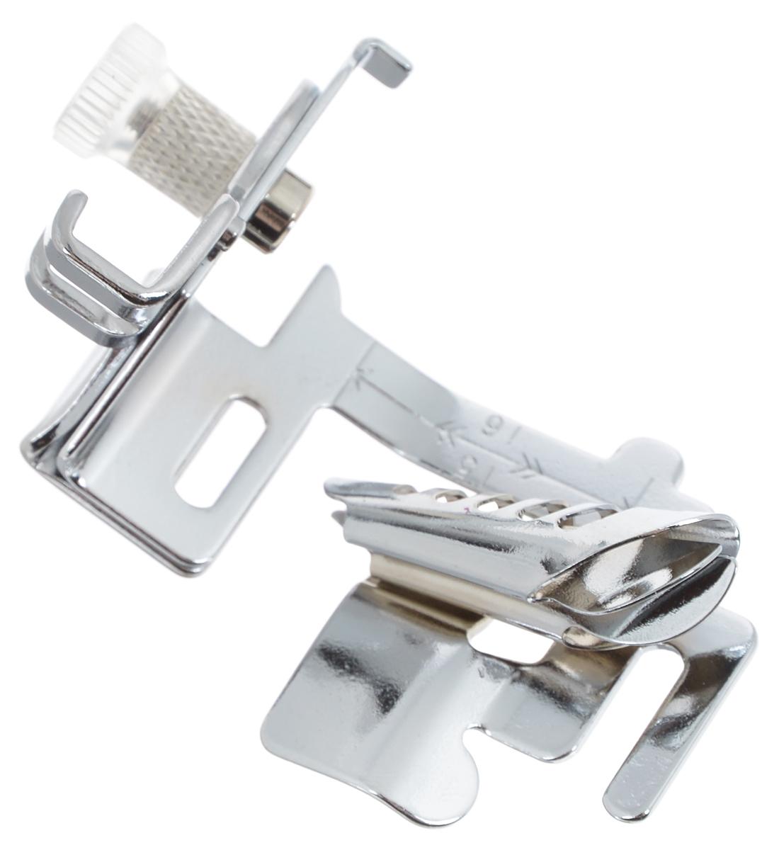 Лапка для швейной машины Aurora, для окантовывания края отделочной тесьмойAU-117Лапка для швейных машин Aurora предназначена для обработки краев отделочной тесьмой. Эта операция является достаточно простым способом придать обрезным краям материала ровный и аккуратный вид. Для этого нужна отделочная тесьма (косая бейка) шириной 24 мм, без средней складки. Подходит для большинствасовременных бытовых швейныхмашин. Инструкция по использованию прилагается.