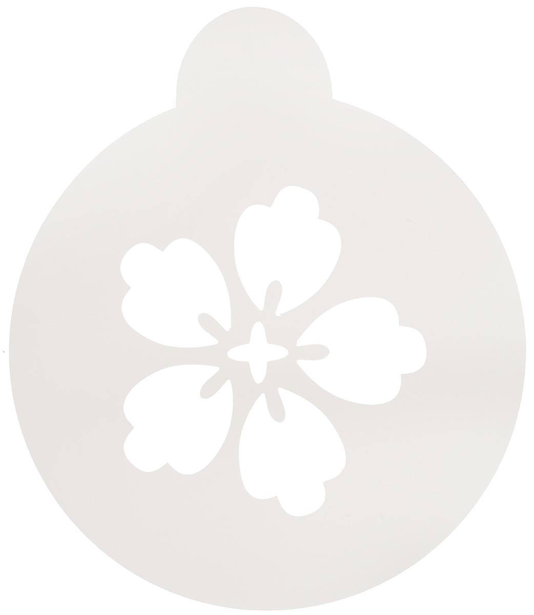 Трафарет на кофе и десерты Леденцовая фабрика Цветочек-пятилистник, диаметр 10 см набор лапка леденцовая фабрика