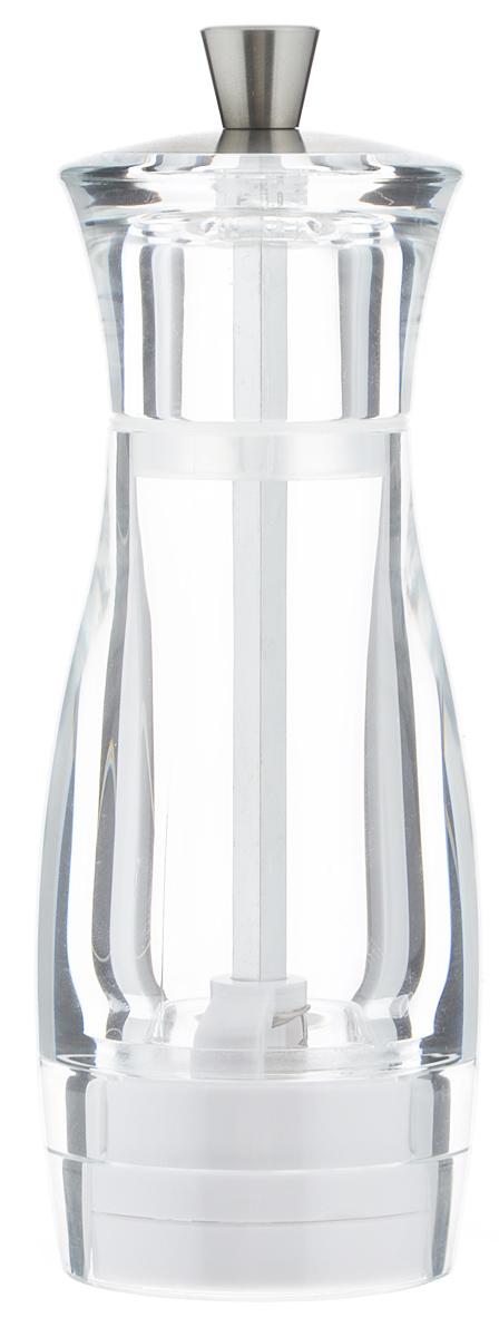 Мельница для соли Tescoma Virgo, высота 14 см658205Мельница для соли Tescoma Virgo - отличное приспособление для приготовления блюд со свежемолотой солью. Изделие имеет керамический механизм размола и регулировку степени грубости помола. Мельница выполнена из прочного пластика и нержавеющей стали. Прозрачные стенки позволяют видеть количество содержимого. Не предназначена для мытья в посудомоечной машине.
