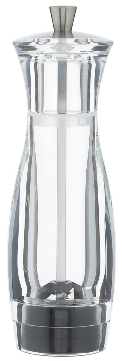 Мельница для перца Tescoma Virgo, высота 16 см658201Мельница для перца Tescoma Virgo - отличное приспособление для приготовления блюд со свежемолотым перцем. Изделие имеет керамический механизм размола и регулировку степени грубости помола. Мельница выполнена из прочного пластика и нержавеющей стали. Прозрачные стенки позволяют видеть количество содержимого.Не предназначена для мытья в посудомоечной машине.