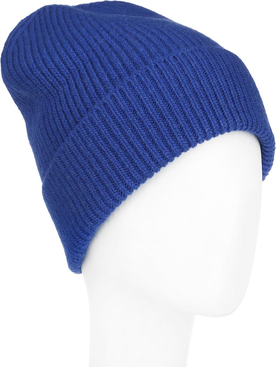 Шапка женская Venera, цвет: синий. 9806087-12. Размер универсальный9806087-12Вязаная женская шапка Venera отлично дополнит ваш образ в холодную погоду. Шапка выполнена простой вязкой из мягкой пряжи, которая не доставит дискомфорта при носке. Сочетание шерсти и нейлона максимально сохраняет тепло и обеспечивает удобную посадку. Теплая шапка с отворотом станет отличным дополнением к вашему осеннему или зимнему гардеробу, в ней вам будет уютно и тепло!