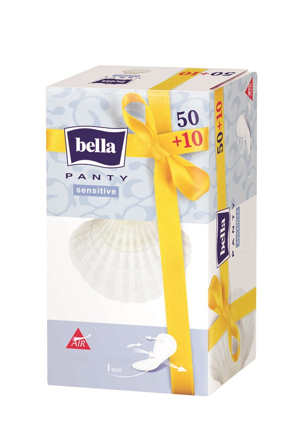 Bella Прокладки ежедневные Panty sensitive 50+10 штBE-022-RN60-003Bella Panty Sensitive Супертонкая, толщиной всего 1 миллиметр, ежедневная прокладка без аромата. Идеальноприлегает к белью и практически незаметна. Предназначена для молодых женщин, которыелюбят активный образ жизни. Почувствуйте уникальную нежность!Уважаемые клиенты! Обращаем ваше внимание на то, что упаковка может иметь несколько видов дизайна.Поставка осуществляется в зависимости от наличия на складе.
