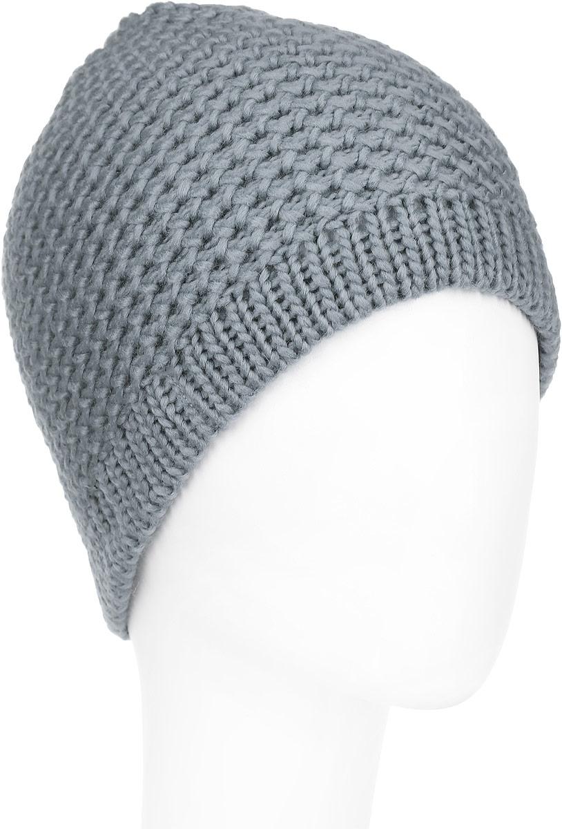 Шапка женская Venera, цвет: серый. 9800303-23. Размер универсальный9800303-23Вязаная женская шапка Venera отлично дополнит ваш образ в холодную погоду. Шапка выполнена крупной вязкой из мягкой пряжи, которая не доставит дискомфорта при носке. Сочетание шерсти и акрила максимально сохраняет тепло и обеспечивает удобную посадку. Теплая шапка станет отличным дополнением к вашему осеннему или зимнему гардеробу, в ней вам будет уютно и тепло!