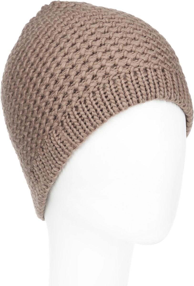 Шапка женская Venera, цвет: коричневый. 9800303-19. Размер универсальный9800303-19Вязаная женская шапка Venera отлично дополнит ваш образ в холодную погоду. Шапка выполнена крупной вязкой из мягкой пряжи, которая не доставит дискомфорта при носке. Сочетание шерсти и акрила максимально сохраняет тепло и обеспечивает удобную посадку. Теплая шапка станет отличным дополнением к вашему осеннему или зимнему гардеробу, в ней вам будет уютно и тепло!