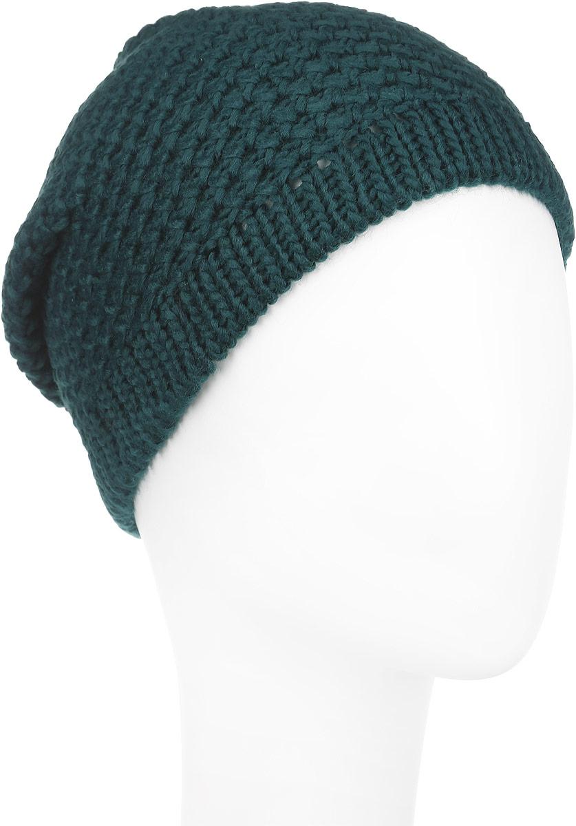 Шапка женская Venera, цвет: зеленый. 9800303-14. Размер универсальный9800303-14Вязаная женская шапка Venera отлично дополнит ваш образ в холодную погоду. Шапка выполнена крупной вязкой из мягкой пряжи, которая не доставит дискомфорта при носке. Сочетание шерсти и акрила максимально сохраняет тепло и обеспечивает удобную посадку. Теплая шапка станет отличным дополнением к вашему осеннему или зимнему гардеробу, в ней вам будет уютно и тепло!