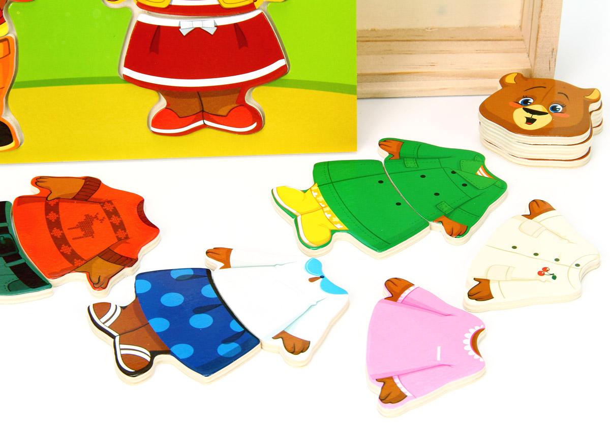 Мир деревянных игрушек Пазл для малышей Два медведя Мир деревянных игрушек