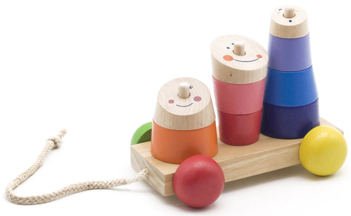 Мир деревянных игрушек Пирамидка-каталка Рожицы сыворотка для тела iodase deep impact ultra serum iodase