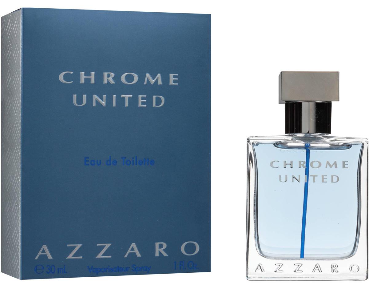 Azzaro Chrome Туалетная вода United, мужская, 30 мл13969Мускусные, пряные. Бергамот, кедр, мускус.Краткий гид по парфюмерии: виды, ноты, ароматы, советы по выбору. Статья OZON Гид