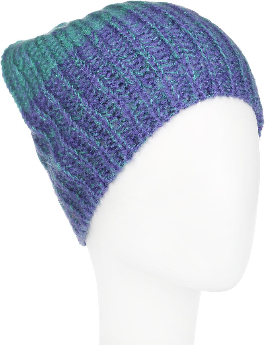 Шапка женская Venera, цвет: синий, бирюзовый. 9801341-2. Размер универсальный9801341-2Вязаная женская шапка Venera отлично дополнит ваш образ в холодную погоду. Шапка выполнена крупной вязкой из мягкой пряжи, которая не доставит дискомфорта при носке. Сочетание шерсти и акрила максимально сохраняет тепло и обеспечивает удобную посадку. Теплая шапка станет отличным дополнением к вашему осеннему или зимнему гардеробу, в ней вам будет уютно и тепло!