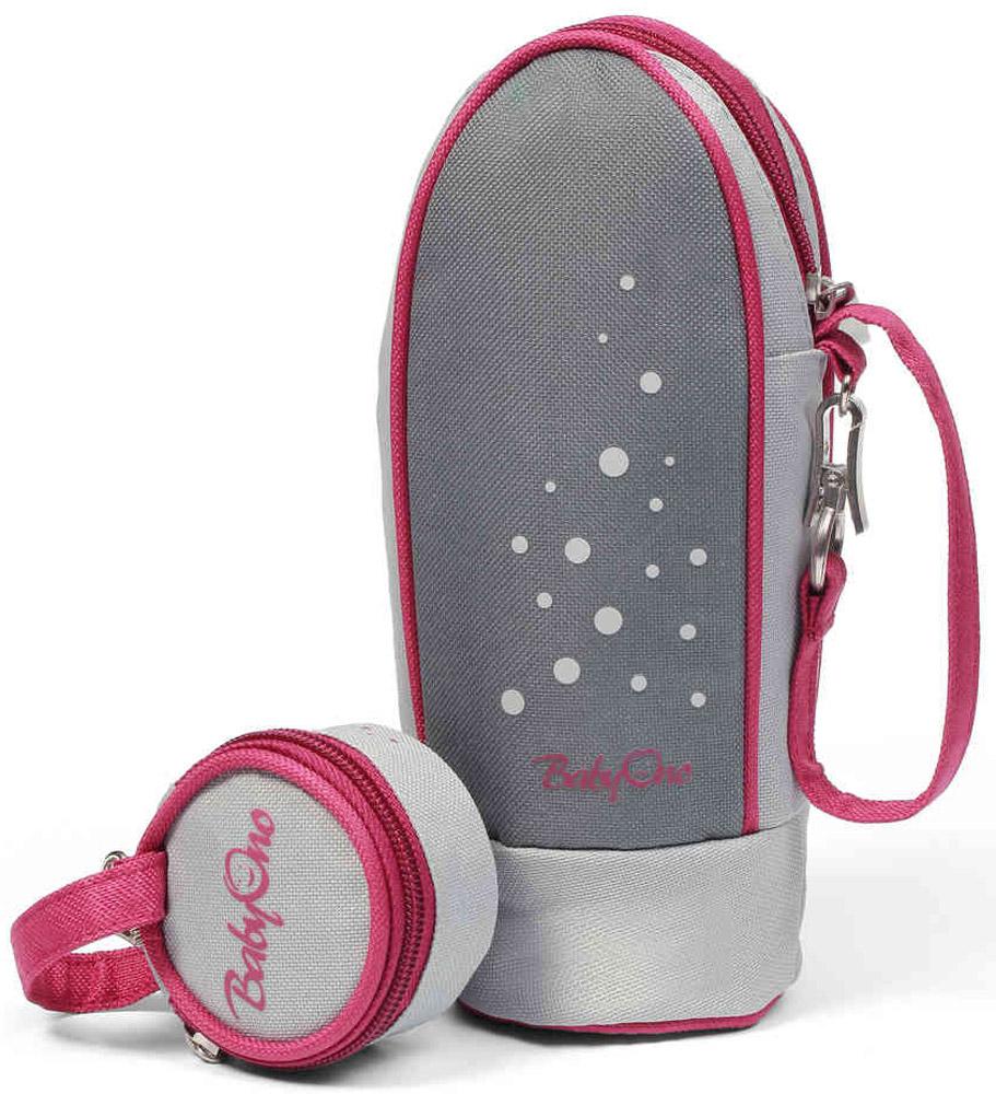 BabyOno Термоупаковка универсальная Style с контейнером для пустышек цвет серый бордовый babyono сумка для мам style
