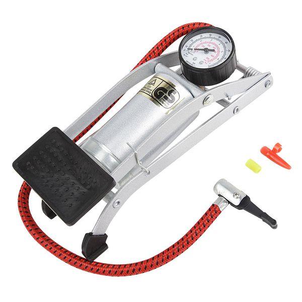 Насос ножной Foot Pump , универсальный, с манометром, цвет: серый. Т15700  - купить со скидкой