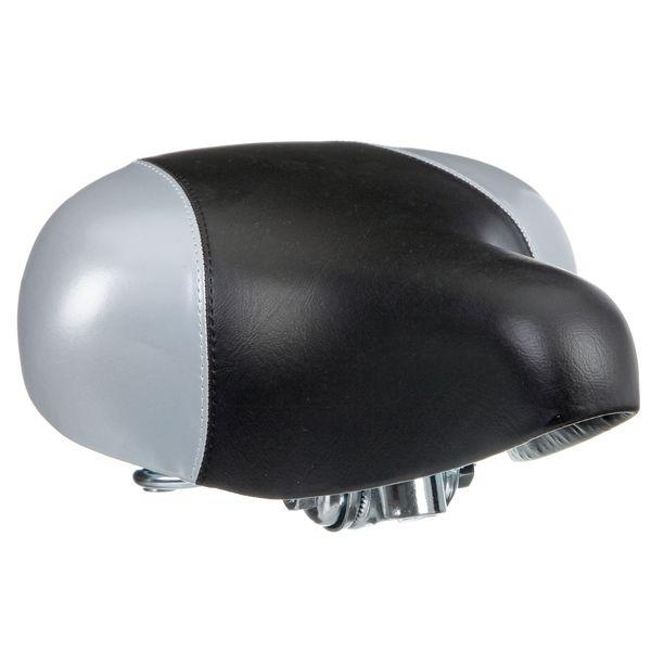 Седло для велосипеда STG HBAZ-0801A, комфортное. Х46012-5Х46012-5Седло STG комфортное, черно-серое