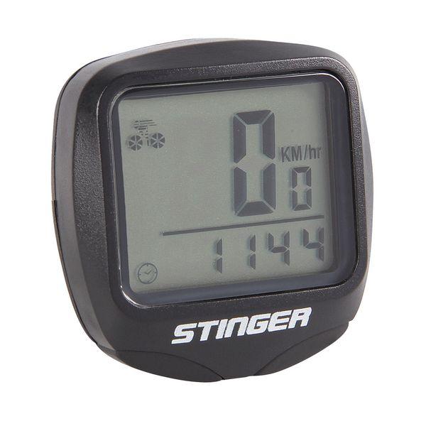 Велокомпьютер STG, проводной, 14 функций. Х53937Х53937Компактный велокомпьютер STG оснащен множеством функций и способен предоставить обширную информацию о вашей поездке, такую как протяженность маршрута или время в пути. Он состоит из выносного датчика, который устанавливается на передней вилке велосипеда, и небольшого монитора, устанавливаемого на руль. Велокомпьютер фиксирует различные значения скорости передвижения за время поездки, включая максимальную, среднюю и текущую. Эти данные будут очень полезными и интересными для любителей велоспорта.