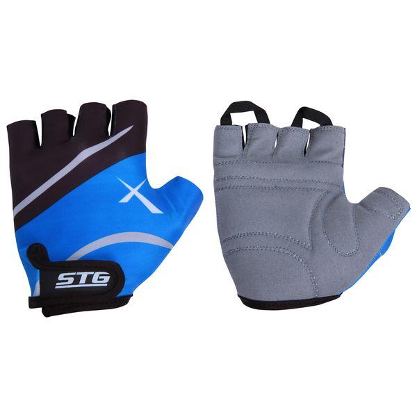 Перчатки велосипедные STG, летние, быстросъемные, цвет: синий, черный, серый. Размер M. Х61876Х61876-МБыстросъемные летние перчатки STG выполнены из высококачественной кожи и лайкры на липучке и с защитной прокладкой. Такие перчатки обеспечат надежный хват за руль велосипеда и обезопасят руки от ссадин при внезапном падении. Для подбора перчаток необходимо измерить ширину ладони. Измерить ее можно линейкой или сантиметром по середине ладони от указательного пальца до мизинца. Соответствие ширины ладони перчаток: М (8,5 см).