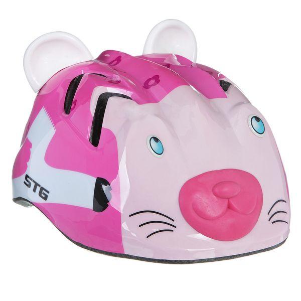 Шлем детский велосипедный STG MV7-CAT, цвет: розовый. Размер S (48-52см). Х66768