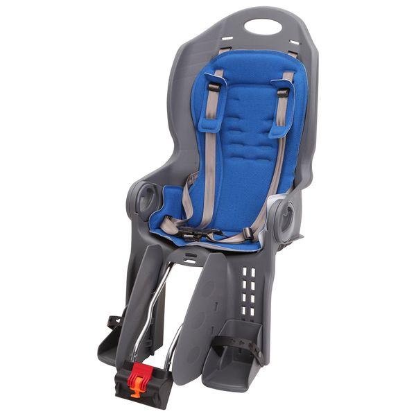 Кресло детское заднее Sunnywheel SW-BC-135, синяя накладка. Х69810Х69810С детским сиденьем Sunnywheel SW-BC-135 вы всегда сможете брать ребенка на велопрогулку, не переживая о его безопасности. Велокресло имеет крепление на раму сзади велосипеда. Оно выполнено из качественного гипоаллергенного пластика. Для комфорта ребенка спинка имеет регулировку. Ремни безопасности надежно зафиксируют малыша. Кресло компактно складывается и занимает небольшое пространство для хранения. Максимальный вес ребенка -до 22,5 кг.Гид по велоаксессуарам. Статья OZON Гид