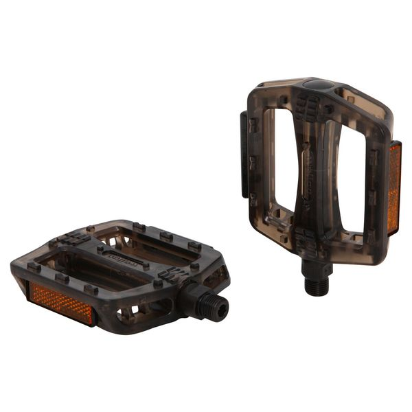 Педали Wellgo B107P. Х70257Х70257Высокопрочные цельные педали Wellgo B107P выполнены из прочного пластика с надежной композитной рамкой, и оснащены встроенными светоотражателями для безопасности. Прочная ось выполнена из стали.Противоскользящие резиновые вставки сверху и снизу обеспечивают удобство.