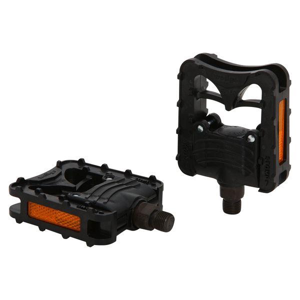 Педали Wellgo F159, складные. Х70259Х70259Складныепедали Wellgo F159 изготовлены из долговечного прочного алюминия. Платформа из пластика улучшает сцепление с подошвой обуви и препятствует проскальзыванию ноги. Шариковые подшипники отличаются долгим сроком службы и не нуждаются в частом обслуживании. Педали оснащены встроенными светоотражателями для безопасности.