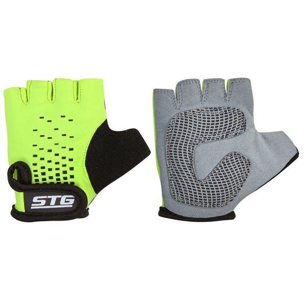 Перчатки детские велосипедные STG AL-03-511, летние, цвет: зеленый, черный. Размер ХS. Х74367