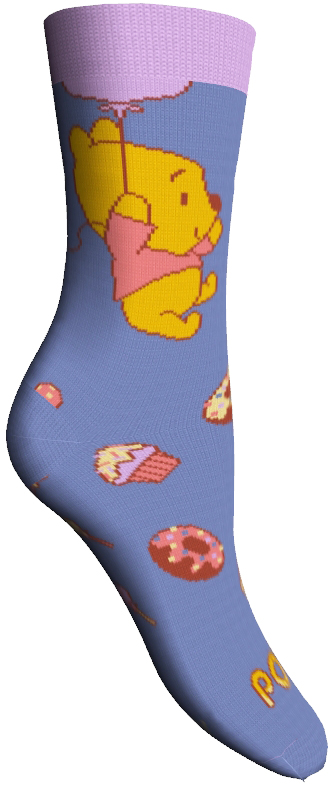 Носки женские Master Socks, цвет: фиолетовый. 15800. Размер 2515800Удобные носки Master Socks, изготовленные из высококачественного комбинированного материала, очень мягкие и приятные на ощупь, позволяют коже дышать.Эластичная резинка плотно облегает ногу, не сдавливая ее, обеспечивая комфорт и удобство. Носки оформлены принтом с изображением героев мультфильма.Практичные и комфортные носки великолепно подойдут к любой вашей обуви.