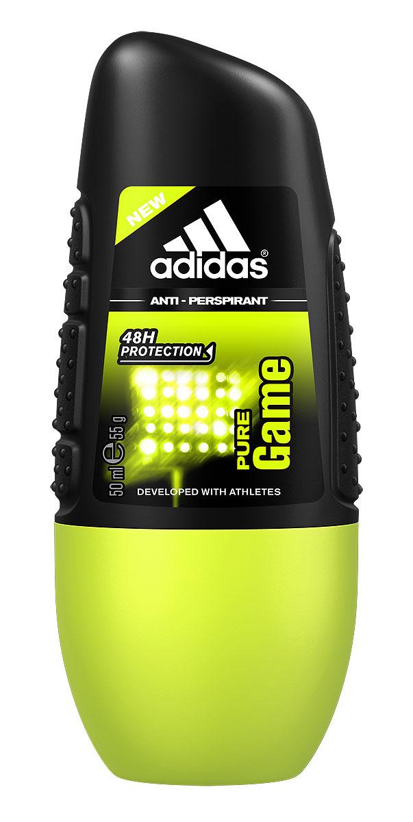 Adidas Дезодорант-антиперспирант ролик Pure Game Anti-Perspirant Roll-On, мужской, 50 мл дезодорант adidas anti perspirant roll ons male cool