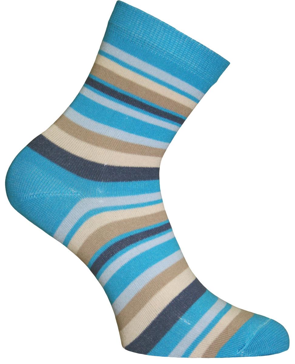Носки женские Master Socks, цвет: голубой, мультиколор. 55002. Размер 2555002Удобные носки Master Socks, изготовленные из высококачественного комбинированного материала, очень мягкие и приятные на ощупь, позволяют коже дышать. Эластичная резинка плотно облегает ногу, не сдавливая ее, обеспечивая комфорт и удобство. Носки с паголенком классической длины оформлены принтом в полоску. Практичные и комфортные носки великолепно подойдут к любой вашей обуви.