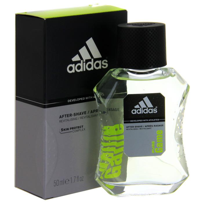 Adidas Лосьон после бритья Pure Game After Shave Lotion, 50 мл3400092504/3607345215242Для активных целеустремленных мужчин.