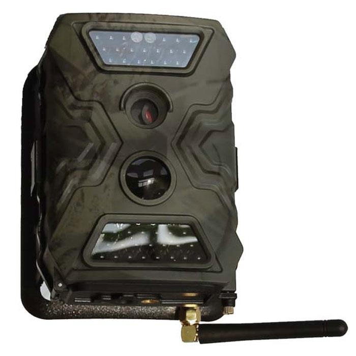 Falcon Eye FE-AC200G фотоловушка GSMFE-AC200G ФотоловушкаБлагодаря своей маскировочной окраске, фотоловушка Falcon Eye FE-AC200G идеально подходит как для охраны дома или склада, так и для наблюдения за дикими животными. Камеру удобно монтировать или крепить, её можно использовать для ручной фотосъёмки и съёмки длительных видео. Встроенный GSM модуль позволяет в режиме реального времени получать фотографии. Данная модель работает при температуре от -30° до +60°C при влажности до 90% и идеально подходит для использования в российских условиях.Формат фото: JPEGРазрешение фото: 4000x3000 (максимальное)Серийная съемка 1-7 к/сАвтоматическое отключение через 1 минутуПитание: 4-8 батареек типа ААМаксимальное время работы: до 6 месяцев (8xAA)Циклическая записьЗамедленная съемкаДиапазон действия PIR-датчика: 12 – 15 м