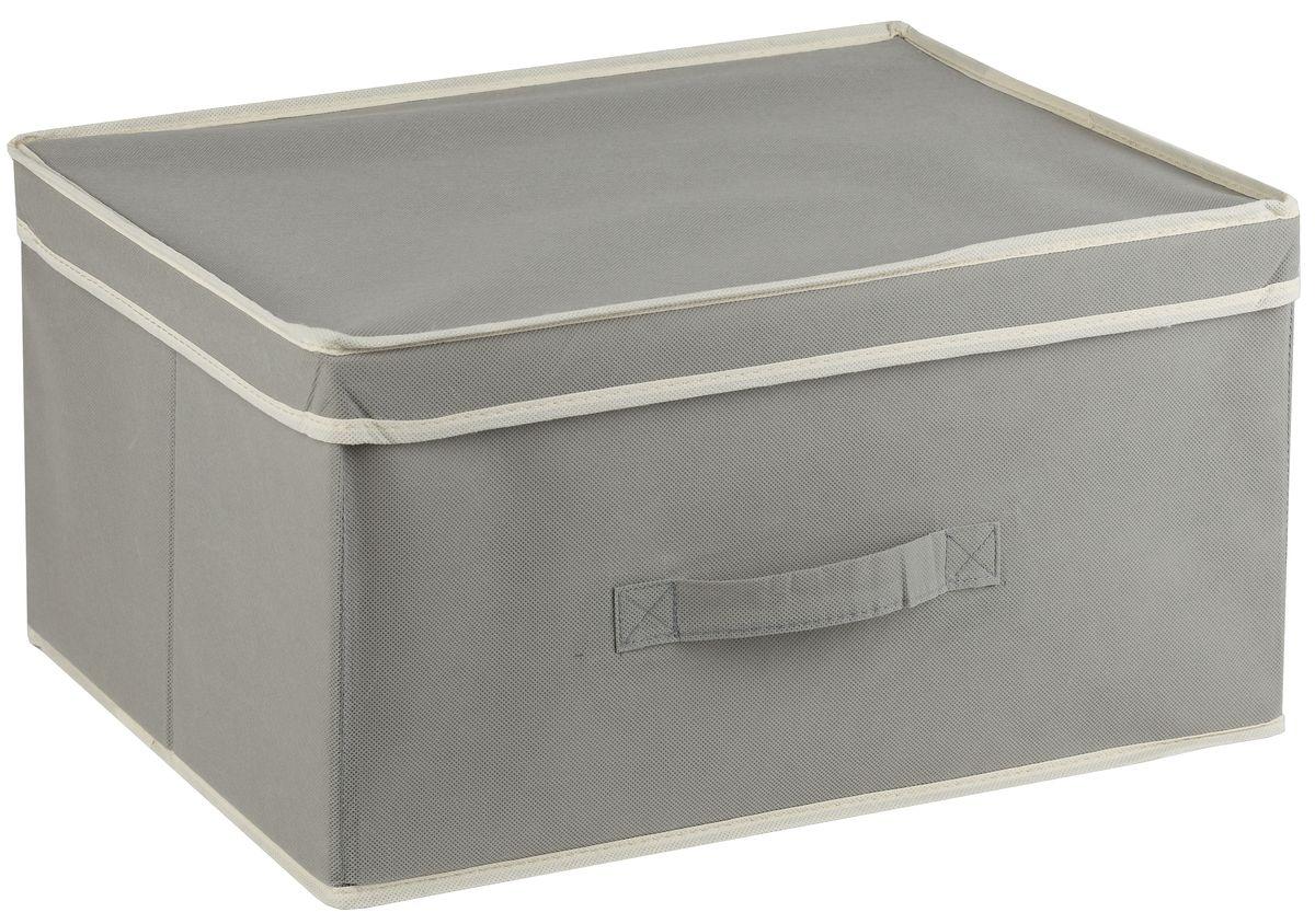 """Короб White Fox """"Standart"""" изготовлен из нетканого полотна, наиболее популярного среди товаров для хранения вещей. Для удобства в обращении имеется ручка. Короб имеет складную конструкцию."""