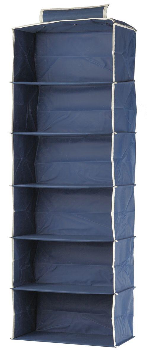 Кофр подвесной White Fox Comfort, 6 полок, цвет: голубой, 30 х 30 х 128 смWHHH10-352Коллекция Comfort от White Fox изготовлена из полиэстера с пропиткой.Особенность товаров в том, что их можно протирать, в них не накапливается пыль и вещи остаются чистыми.В коллекции представлены самые популярные вещи: подвесные кофры, короба с крышками и без, мягкие чехлы для вещей, чехлы для костюмов.Все изделия упакованы в компактную упаковку, которая имеет подвес.Короба складываются.
