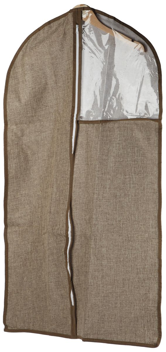 Чехол для одежды White Fox Linen, цвет: бежевый, 60 х 100 смWHHH10-370Чехол для одежды White Fox Linen изготовлен из полиэстера стилизованного под лен. Изделия упаковано в компактную упаковку, которая имеет подвес.