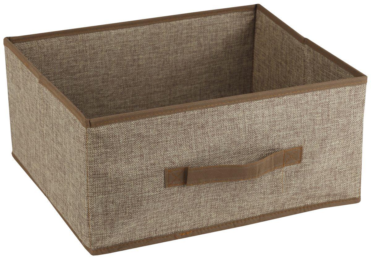 Короб для хранения White Fox Linen, цвет: бежевый, 48 х 36 х 21 смWHHH10-378Короб для хранения White Fox Linen изготовлен из полиэстера стилизованного под лен. Для удобства в обращении имеется ручка. Короб имеет складную конструкцию.