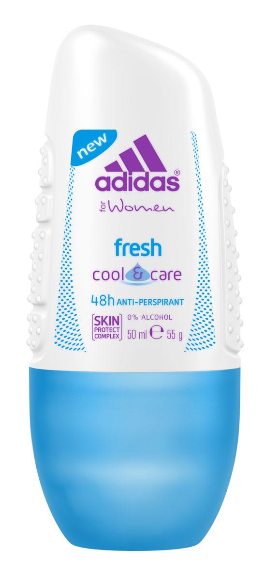 Adidas Дезодорант-антиперспирант ролик Cool&Care Fresh Anti-Perspirant Roll-On, женский, 50 мл дезодорант adidas anti perspirant roll ons male cool