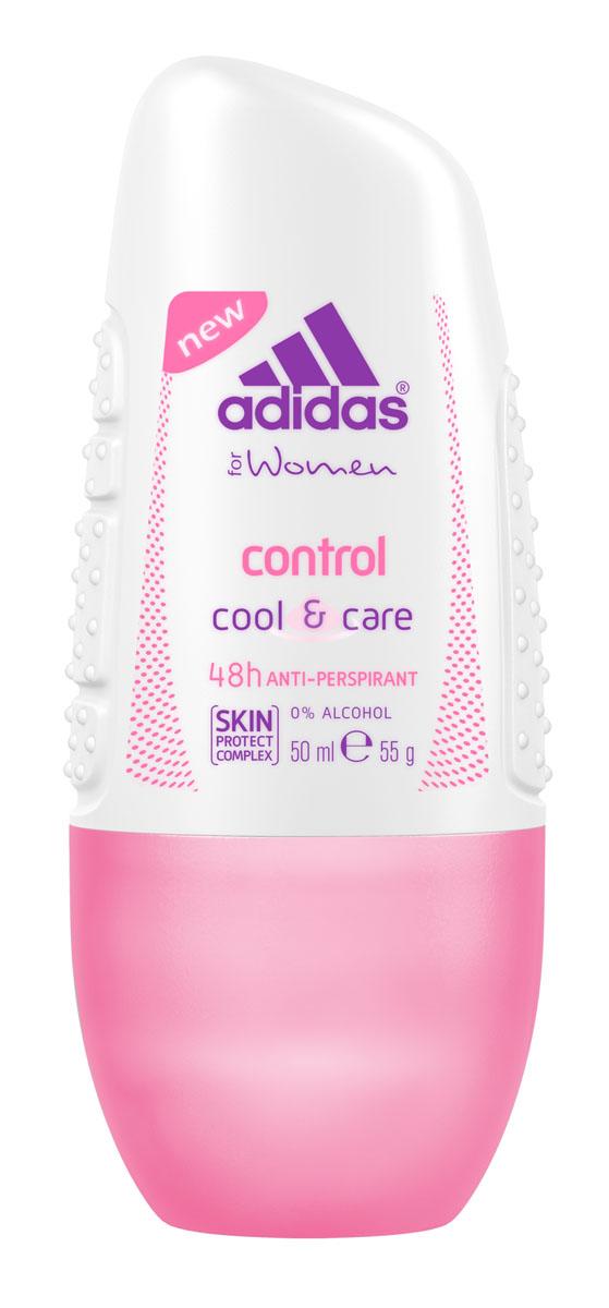 Adidas Дезодорант-антиперспирант ролик Cool&Care Control Anti-Perspirant Roll-On, женский, 50 мл340133403/3607347415343Защита - 48 ч. Прекрасное сочетание ухода и защиты от пота. Легкий аромат придаст ощущение комфорта.