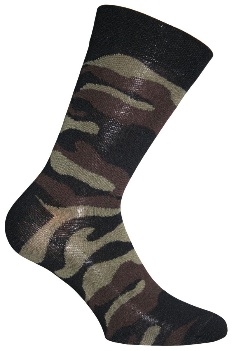 Носки мужские Master Socks, цвет: черный, коричневый, зеленый. 58030. Размер 2758030Удобные носки Master Socks, изготовленные из высококачественного комбинированного материала, очень мягкие и приятные на ощупь, позволяют коже дышать.Широкая эластичная резинка плотно облегает ногу, не сдавливая ее, обеспечивая комфорт и удобство. Модель оформлена принтом камуфляж.Удобные и комфортные носки великолепно подойдут к любой вашей обуви.