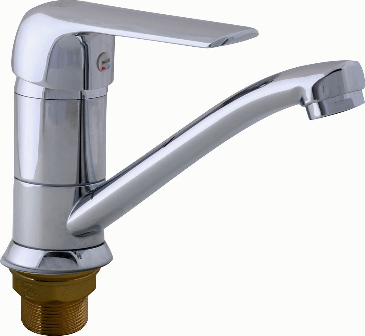 Смеситель для кухни РМС, с коротким поворотным изливом. SL84-004FBS-15. Цвет: хромSL84-004FBS-15Смеситель для кухни с коротким поворотным изливом. Картридж:керамический 35мм. Крепление:гайка. Аэратор:пластиковый. Покрытие:хром. В комплекте: гибкая подводкаОсобенности:- Крепление на гайке- Керамич.картридж 35мм- Аэратор пластиковый- Гибкая подводка