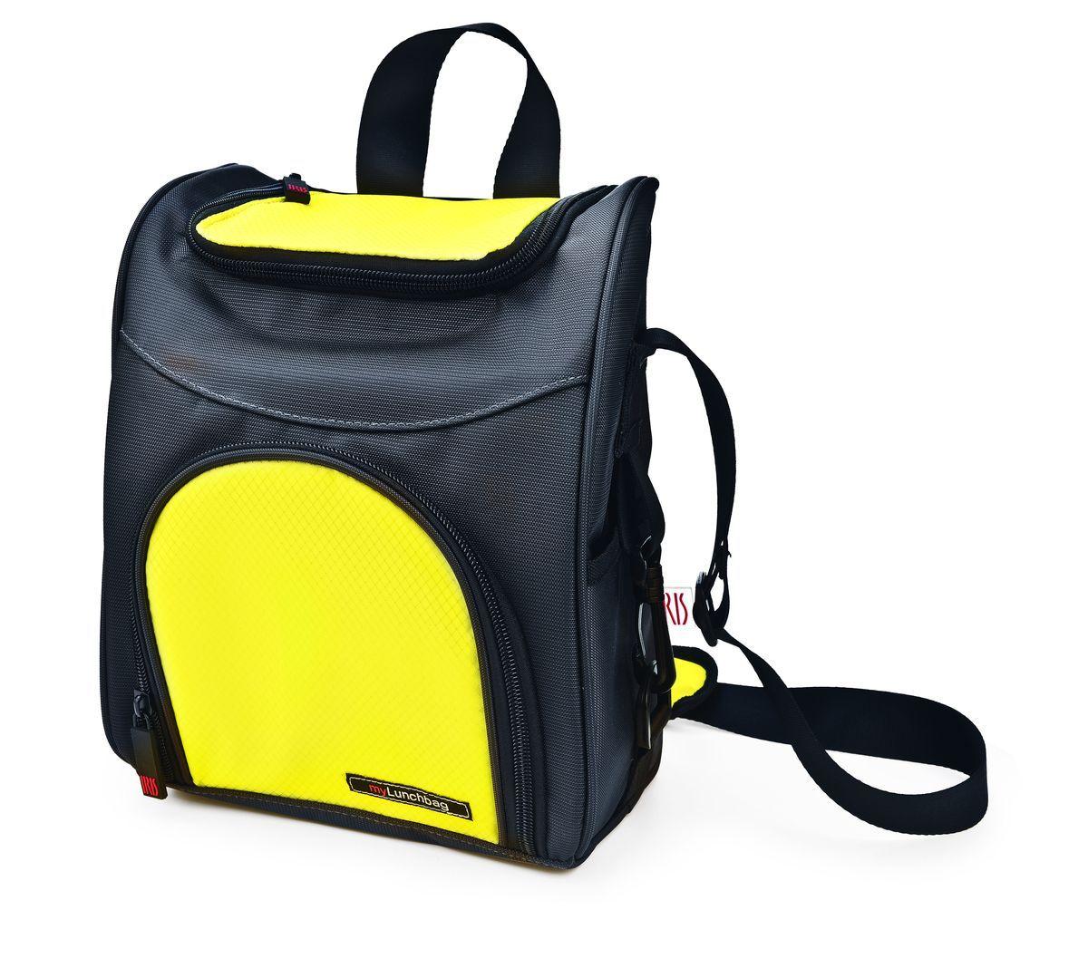 Терморюкзак для ланч-бокса Iris Barcelona Traveller MyLunchbag, цвет: темно-серый, желтый термо ланч бокс iris classic pocket mylunchbag без контейнеров цвет черный
