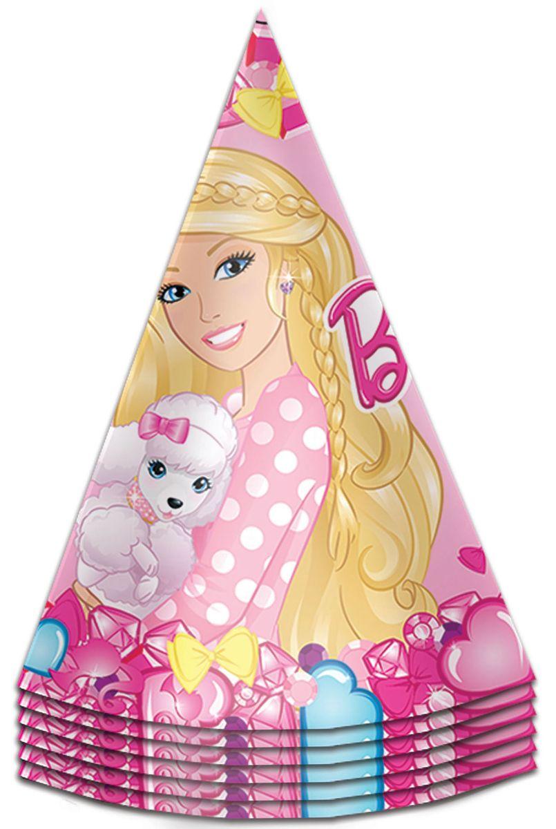 Barbie Колпак карнавальный детский Барби 6 шт