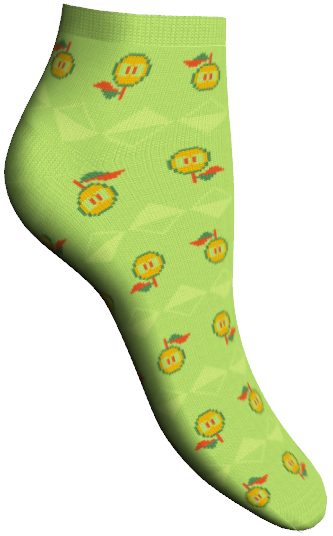 Носки женские Master Socks, цвет: зеленый. 85605. Размер 2385605Удобные укороченные носки Master Socks, изготовленные из высококачественного комбинированного материала, очень мягкие и приятные на ощупь, позволяют коже дышать.Эластичная резинка плотно облегает ногу, не сдавливая ее, обеспечивая комфорт и удобство. Носки дополнены полупрозрачным орнаментом с изображением яблока.Практичные и комфортные носки великолепно подойдут к любой вашей обуви.