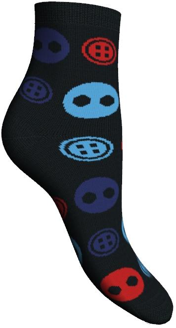 Носки женские Master Socks, цвет: черный. 85611. Размер 2585611Удобные укороченные носки Master Socks, изготовленные из высококачественного комбинированного материала, очень мягкие и приятные на ощупь, позволяют коже дышать.Эластичная резинка плотно облегает ногу, не сдавливая ее, обеспечивая комфорт и удобство. Носки оформлены орнаментом с изображением пуговиц.Практичные и комфортные носки великолепно подойдут к любой вашей обуви.