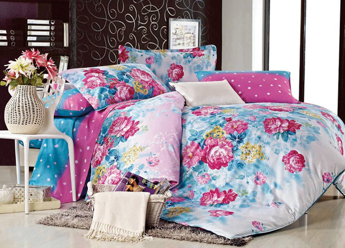 Комплект белья Primavera Classic Летние цветы, 2-спальный, наволочки 70x7072896Комплект постельного белья Primavera Classic Летние цветы является экологически безопасным для всей семьи, так как выполнен из высококачественного сатина (100% хлопка). Комплект состоит из пододеяльника на молнии, простыни и двух наволочек. Постельное белье оформлено ярким рисунком цветов и имеет изысканный внешний вид. Сатин - производится из высших сортов хлопка, а своим блеском и легкостью напоминает шелк. Постельное белье из сатина превращает жаркие летние ночи в прохладные и освежающие, а холодные зимние - в теплые и согревающие. Приобретая комплект постельного белья Primavera Classic Летние цветы, вы можете быть уверенны в том, что покупка доставит вам и вашим близким удовольствие и подарит максимальный комфорт.