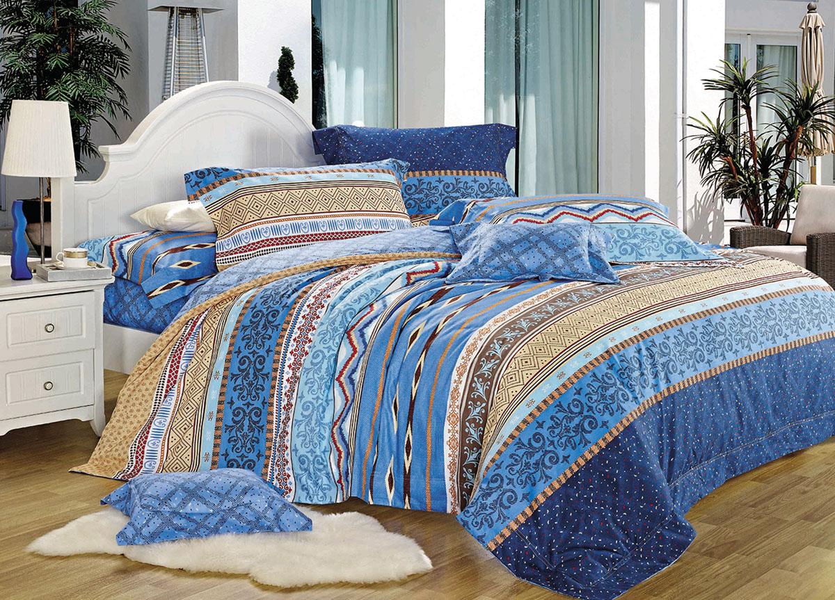 Комплект белья Primavera Classic. Морская волна, 2-спальный, наволочки 70x70 комплект белья primavera classic роспись в цветах 2 спальный наволочки 70x70 цвет коричневый