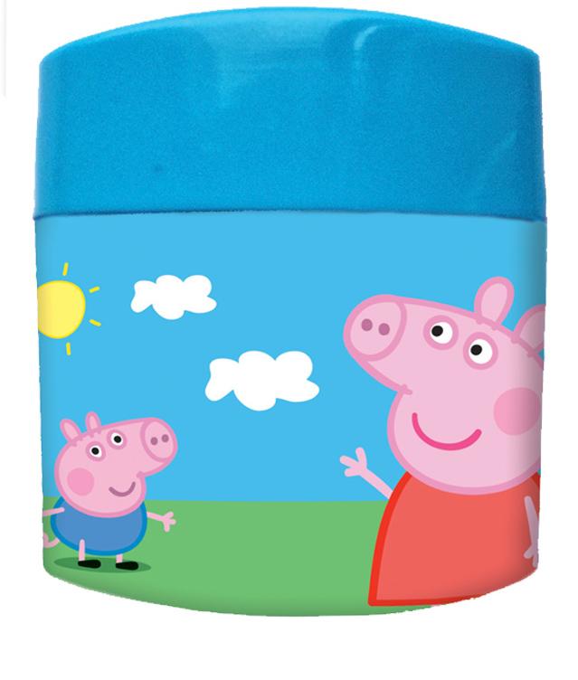 Peppa Pig Точилка Свинка Пеппа 2 отверстия28987Точилка с изображением забавных героев мультфильма Свинка Пеппа прекрасно подходит для чернографитных и цветных карандашей (как шестигранных, так и толстых трехгранных). Она имеет два отверстия для заточки и специальный контейнер для сбора стружки. Состав: пластик, металл, нержавеющая сталь.