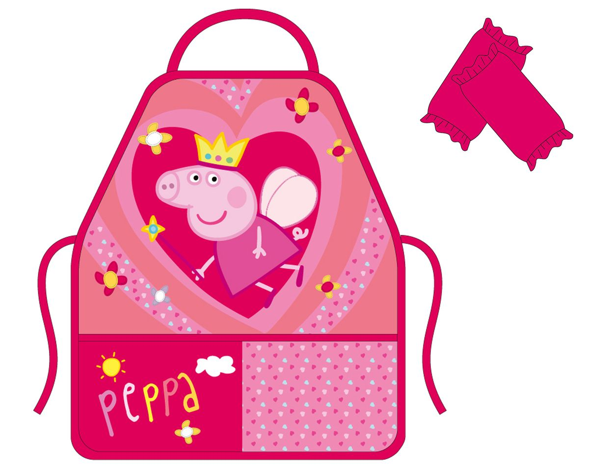 Peppa Pig Фартук для труда с нарукавниками Королева -  Аксессуары для труда