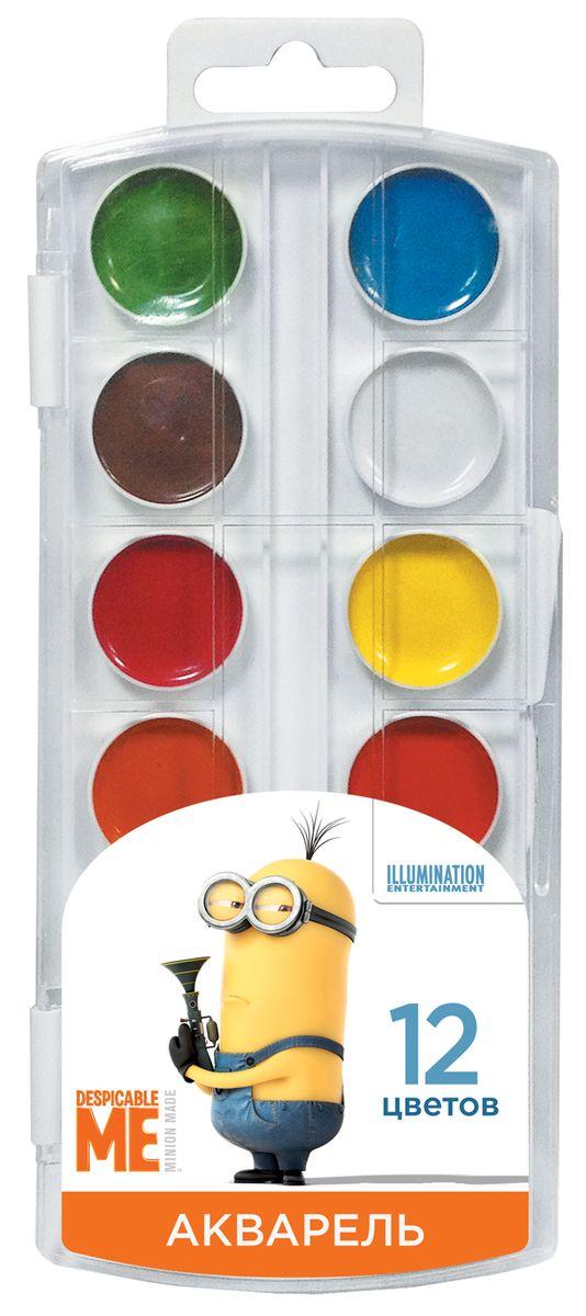 Universal Миньоны Краски акварельные 12 цветов29531Акварельные краски Universal Миньоны предназначены для рисования дома и в детских садах. Яркие и интенсивные цвета отлично подойдут какдля создания фоновых рисунков, так и прорисовки крупных и мелких деталей. Акварельные краски легко смываются водой и выполнены вкрепком пластиковом корпусе. В наборе 12 цветов: голубой, зеленый, коричневый, желтый, малиновый, светло-коричневый, оранжевый, белый,синий, красный, черный, темно-зеленый.В процессе рисования у детей развивается наглядно-образное мышление, воображение, мелкаямоторика рук, творческие и художественные способности, вырабатывается усидчивость и аккуратность.