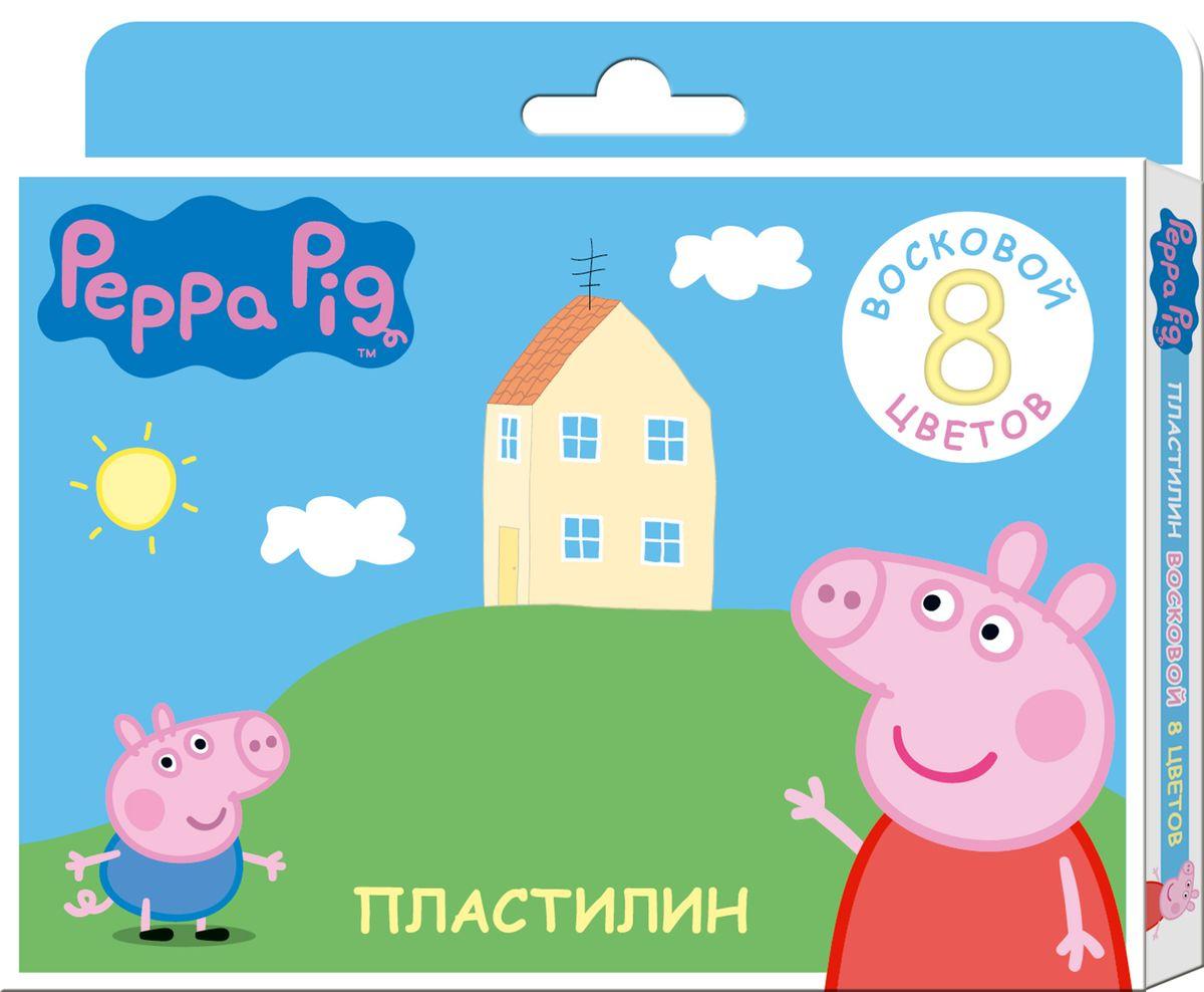 Peppa Pig Пластилин восковой Свинка Пеппа 8 цветов peppa pig пластилин свинка пеппа 12 цветов